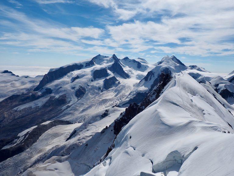 Monta Rosa and Breithorn ridge